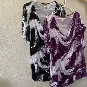 TWO beautiful blouses size 3x